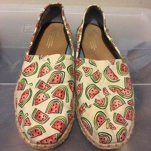 Toms watermelon woven espadrilles
